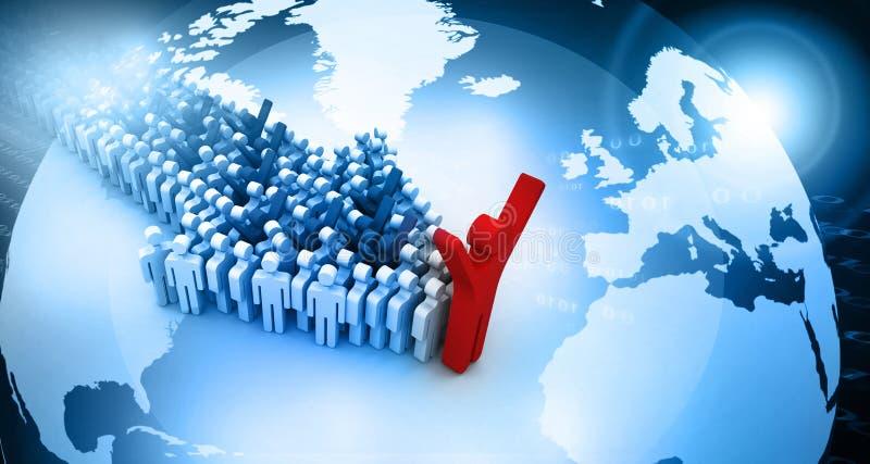 Global people leadership concept royalty free illustration