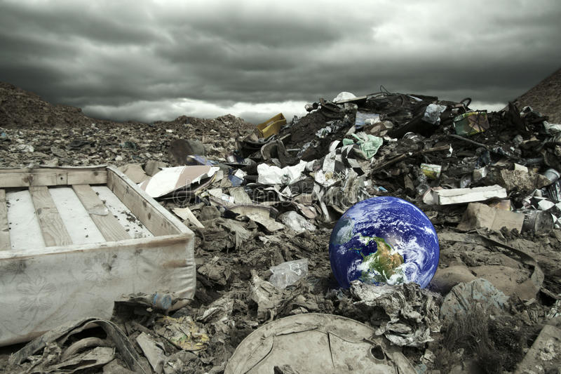 Global pollution stock image