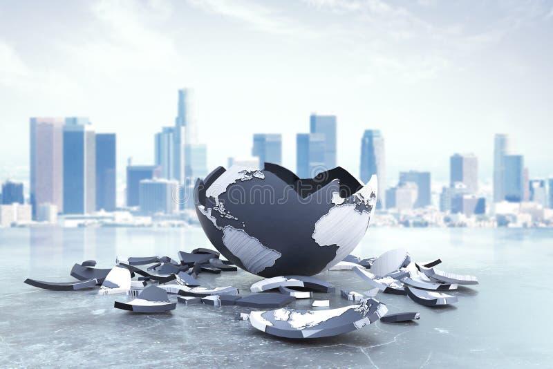 Global problem och risk vektor illustrationer