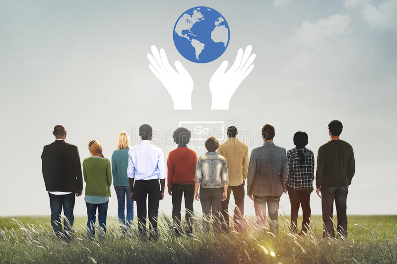Global Prosperity Protect Earth Care Concept stock images