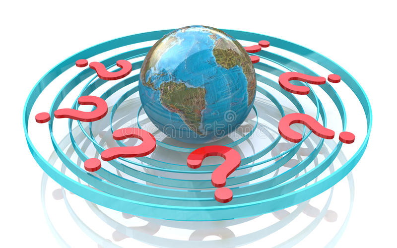 Global Questions Royalty Free Stock Image