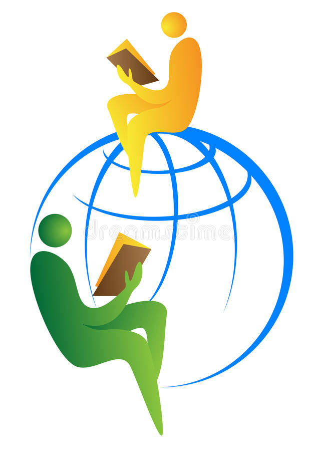 Global readers royalty free illustration
