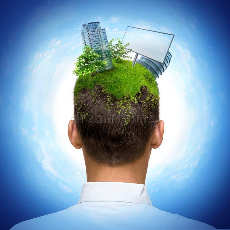 Download Global realty man stock illustration. Illustration of lawn - 10845979