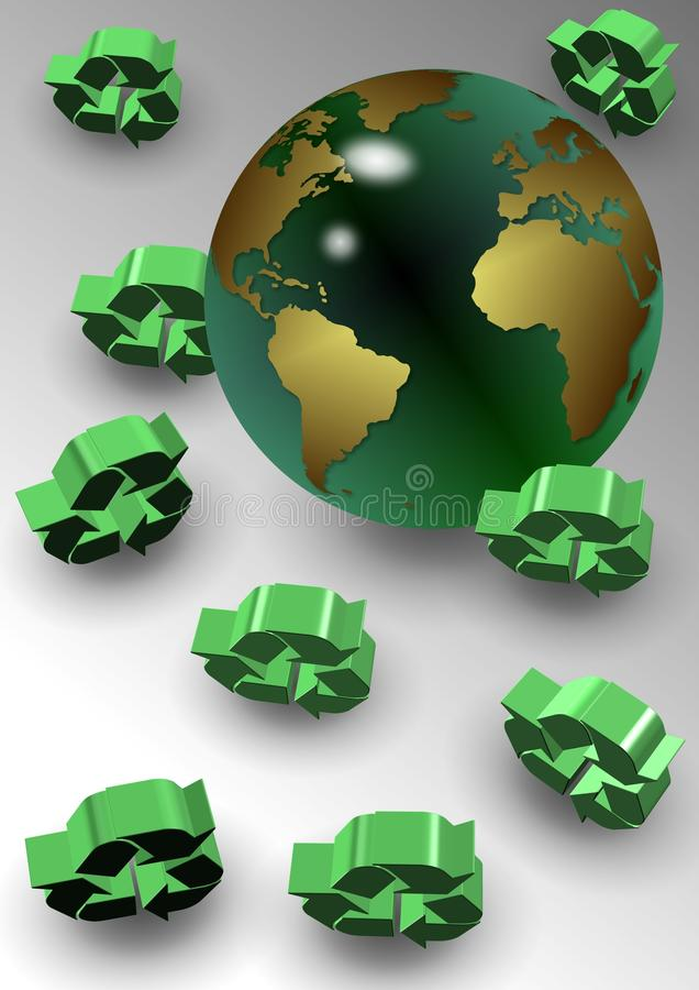 Global recycle royalty free illustration