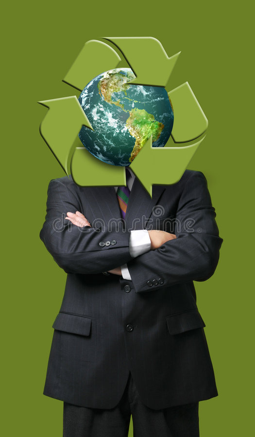 Global recycle business metaphore vector illustration