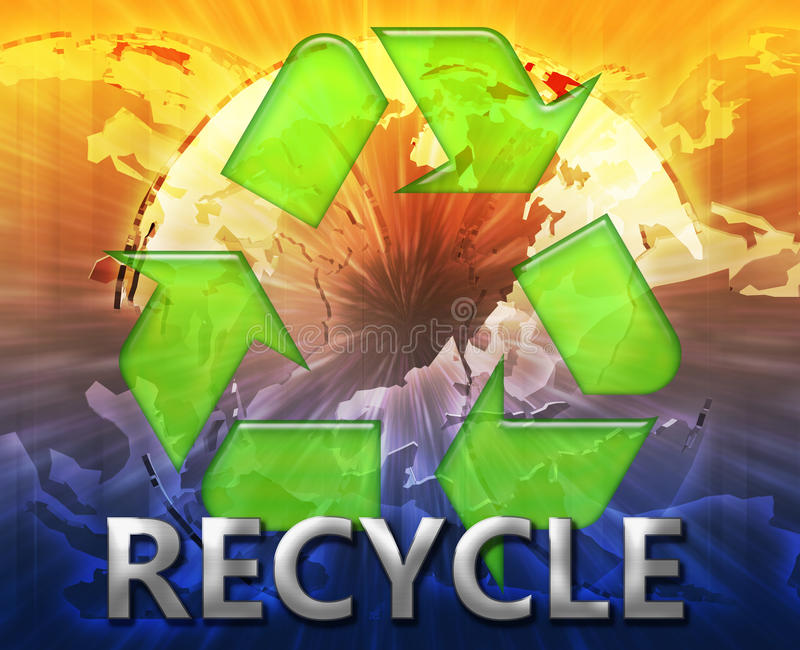 Download Global Recycling Eco Symbol Stock Illustration - Image: 12242176