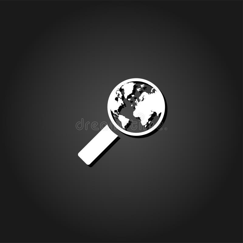 Global sökandesymbolslägenhet royaltyfri illustrationer