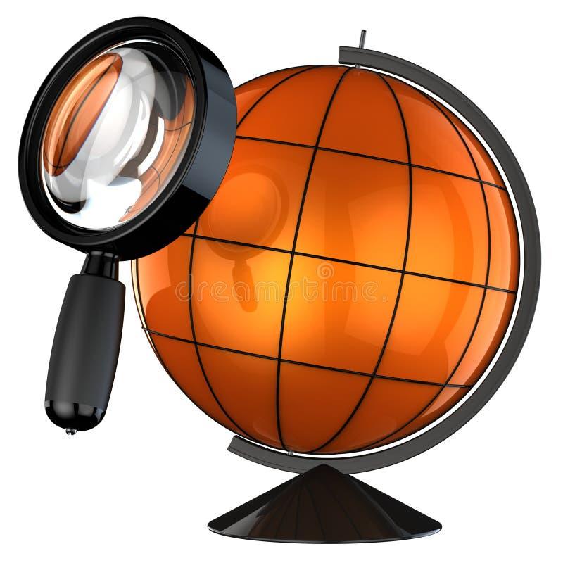 Global searching (Hi-Res) royalty free illustration
