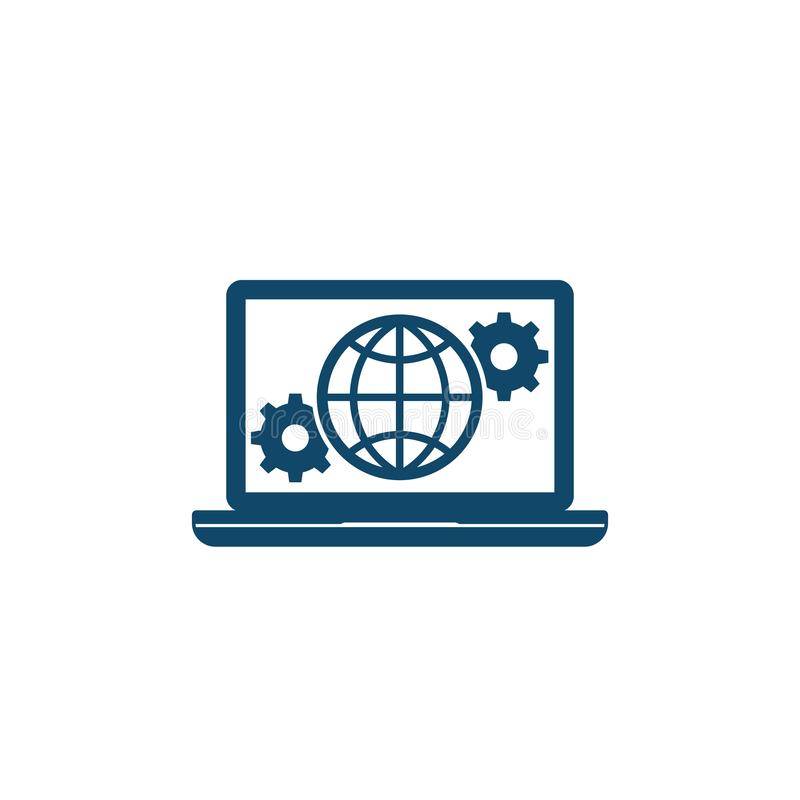Global settings, network configuration icon. Eps 10 file, easy to edit royalty free illustration