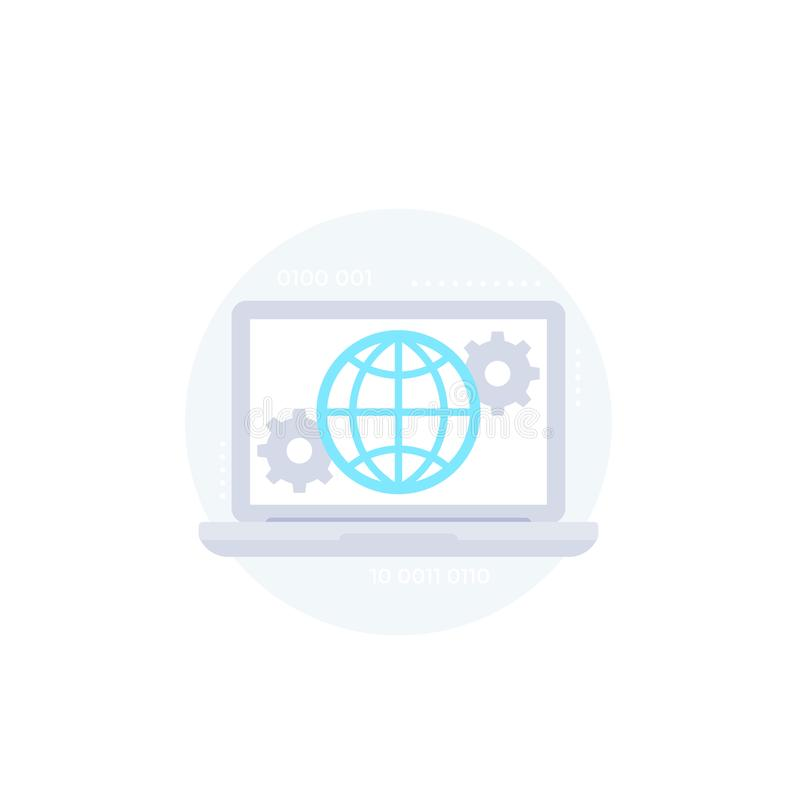 Global settings, network configuration icon. Global settings, network configuration vector icon, eps 10 file, easy to edit stock illustration