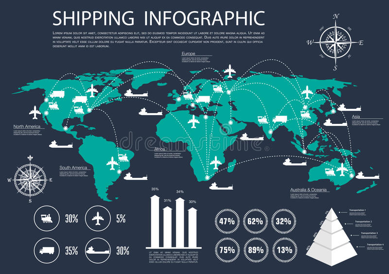 Global shipping and logistics infographics stock vector download global shipping and logistics infographics stock vector illustration of import presentation 69289627 gumiabroncs Gallery