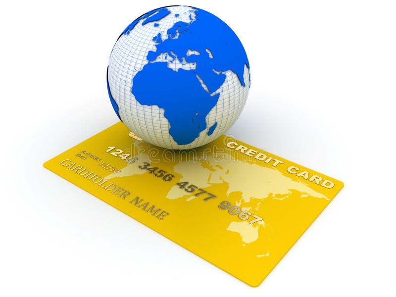 Global Shopping Royalty Free Stock Images