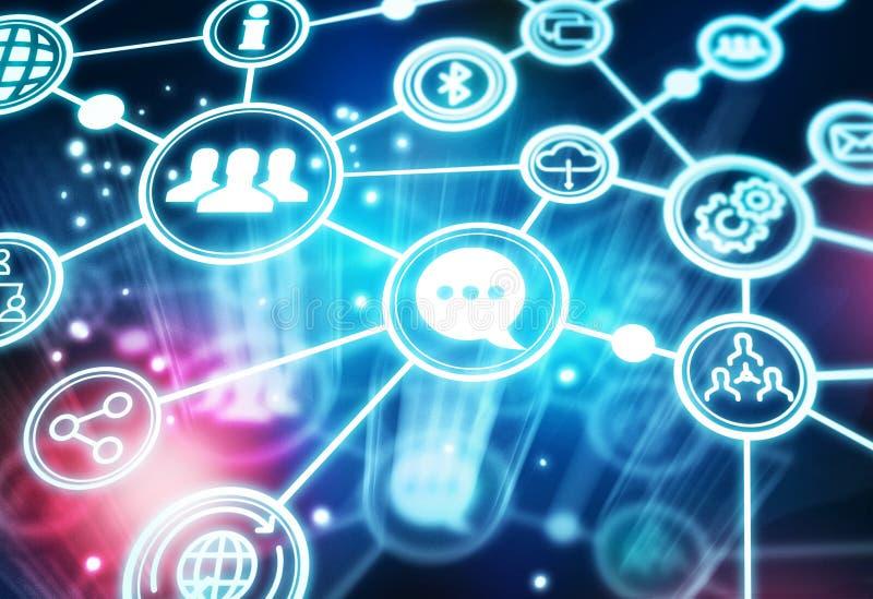 Global social nätverksgemenskap vektor illustrationer