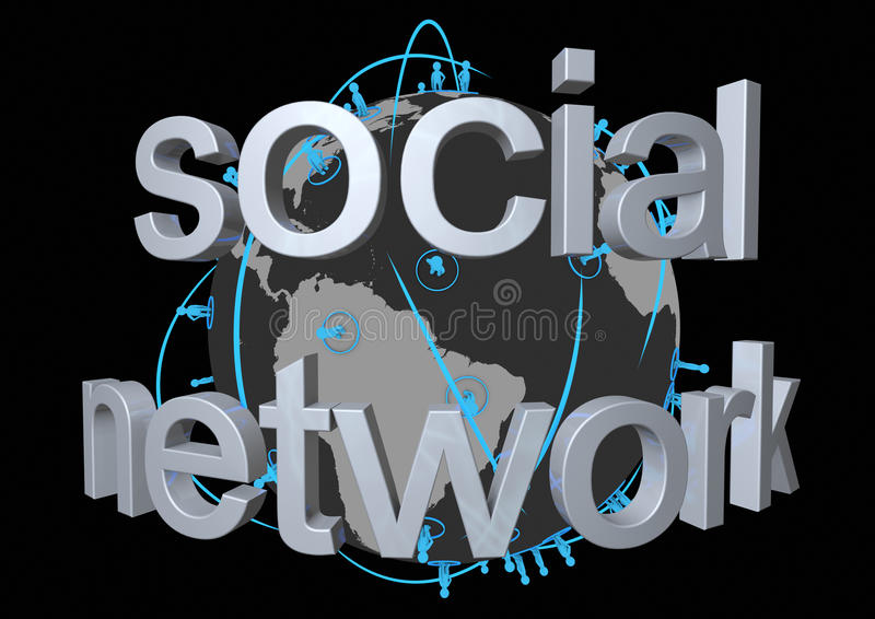 Global social network stock illustration
