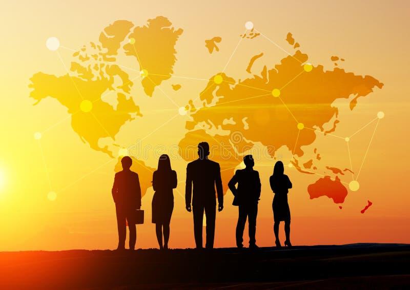 Global social networking vector illustration