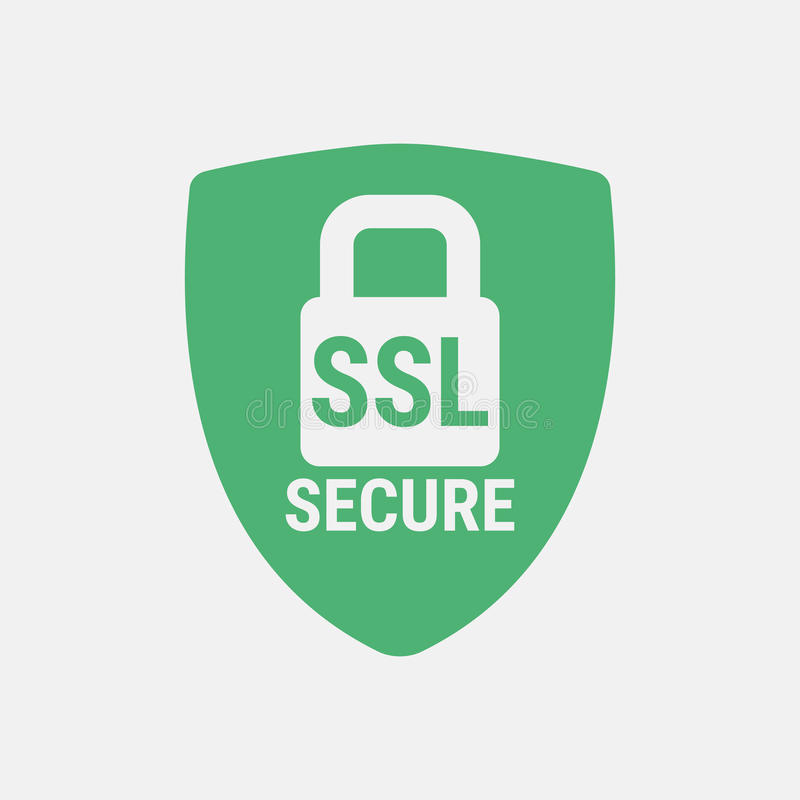 Global SSL Security Icon. Safe and Secure Web sites on the Internet. SSL certificate for the site. Advantage TLS. Closed padlock o. Closed padlock on a royalty free illustration