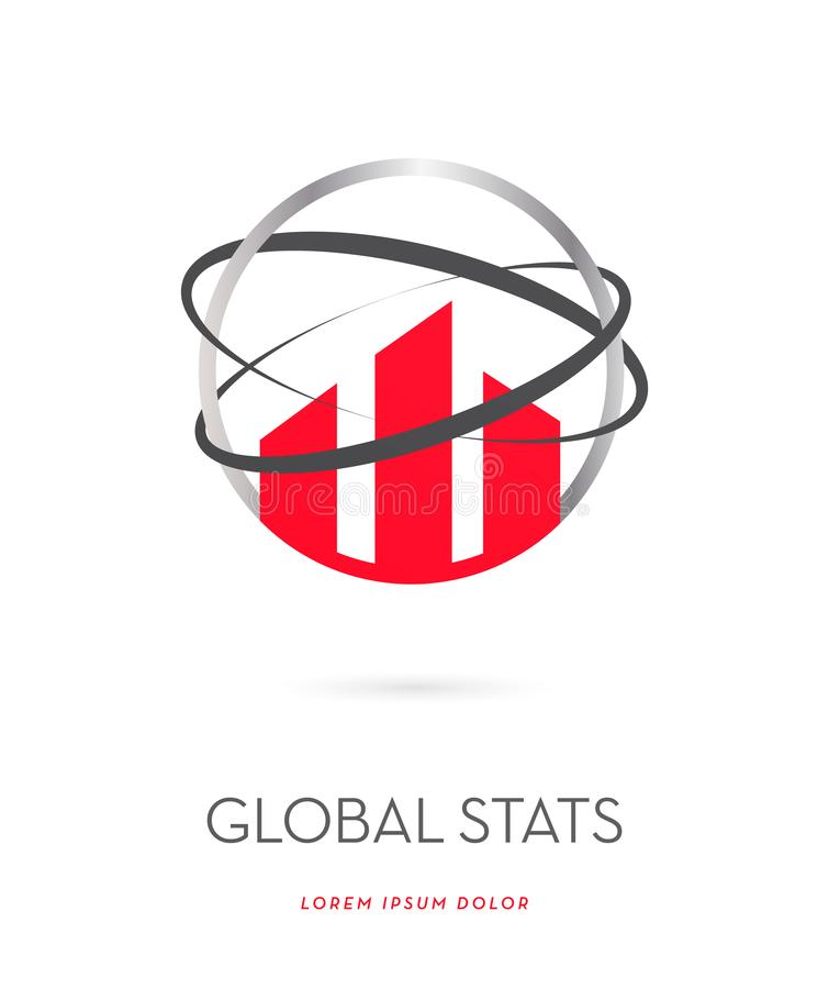 Global stats icon royalty free illustration