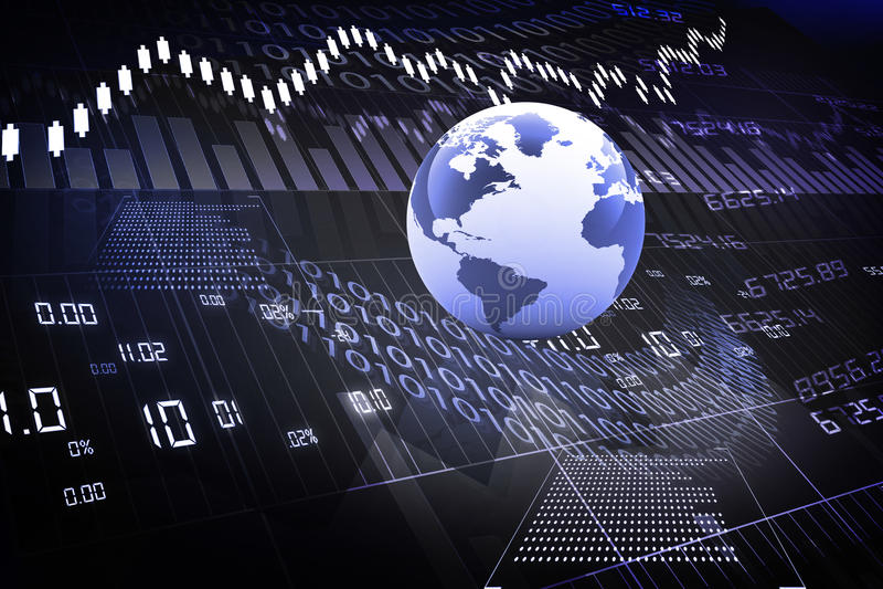 Global stock market vector illustration