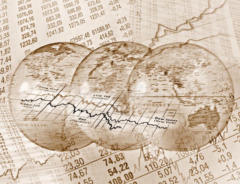 Global Stock Trading royalty free stock photo