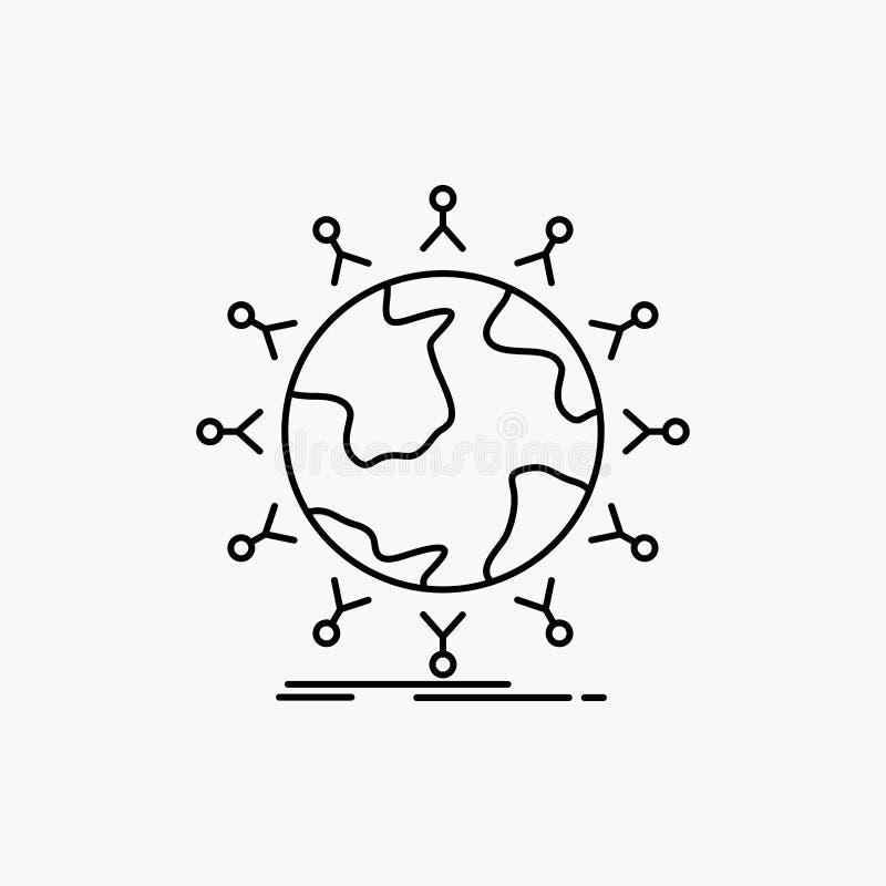 global, Student, Netz, Kugel, Kinder zeichnen Sie Ikone Vektor lokalisierte Illustration vektor abbildung
