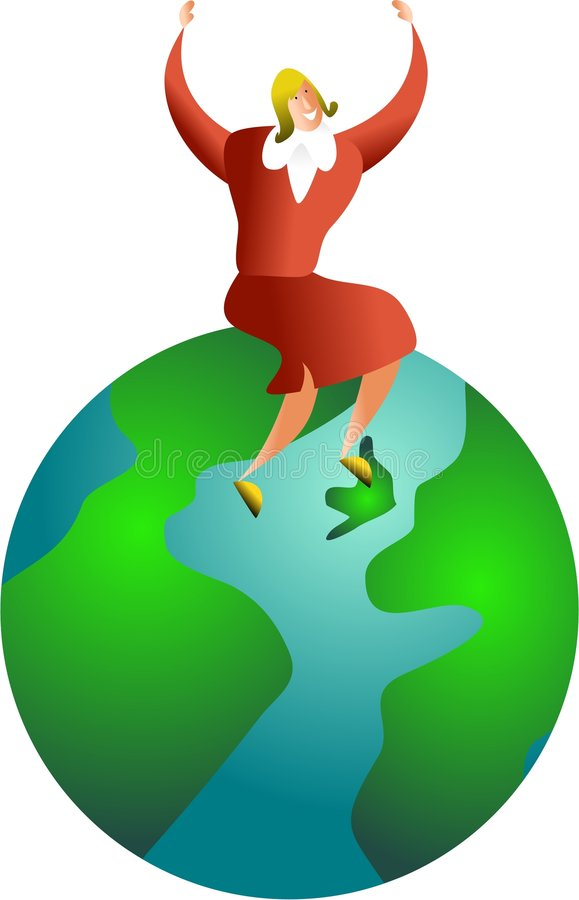 Global success royalty free illustration
