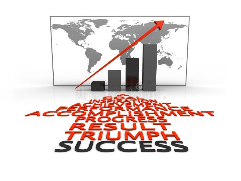 Global success stock illustration