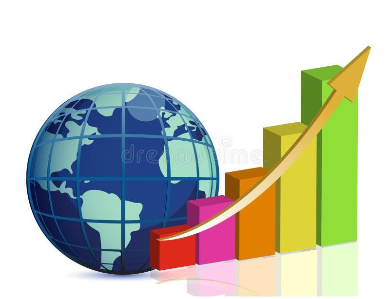 Global success concept stock illustration