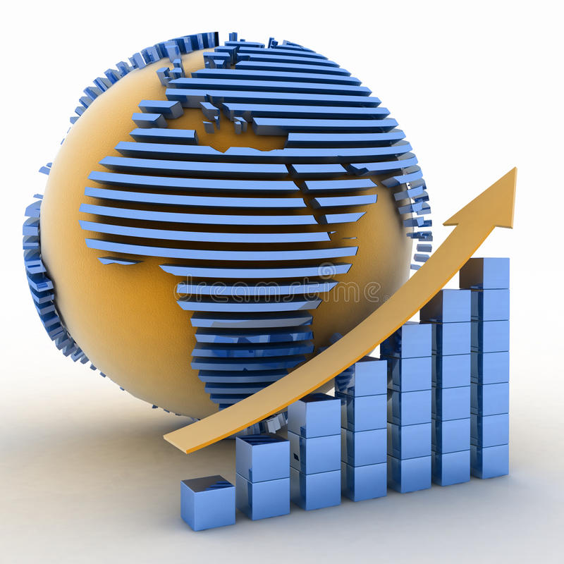 Download Global success concept stock illustration. Image of achieve - 25608501