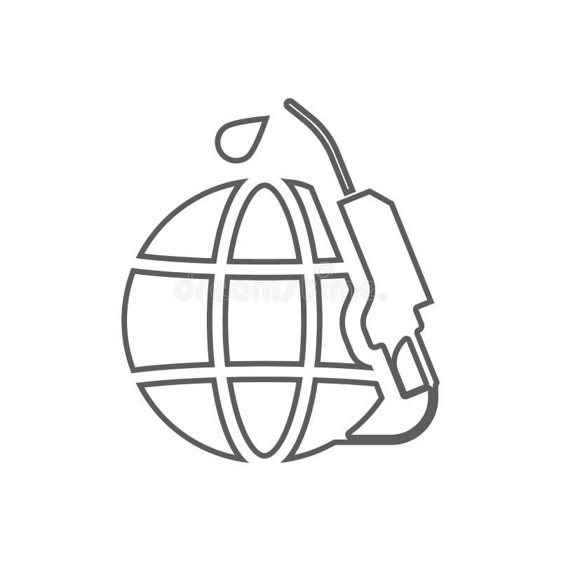 global tanka symbol Beståndsdel av olja för mobilt begrepp och rengöringsdukappssymbol Översikt tunn linje symbol för websitedesi stock illustrationer