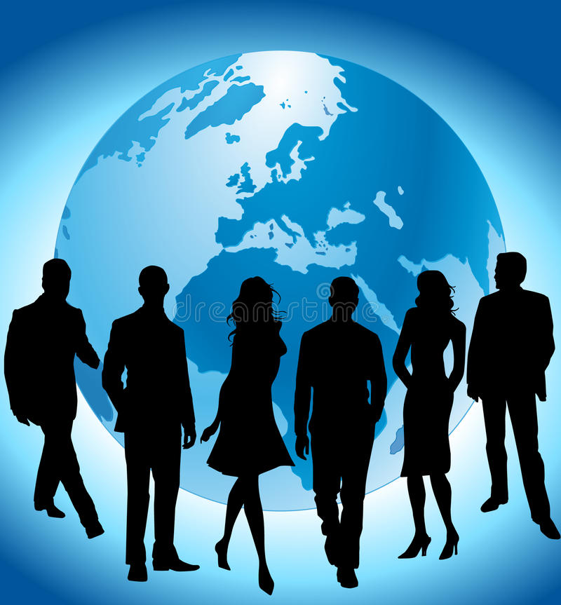 global team stock illustration