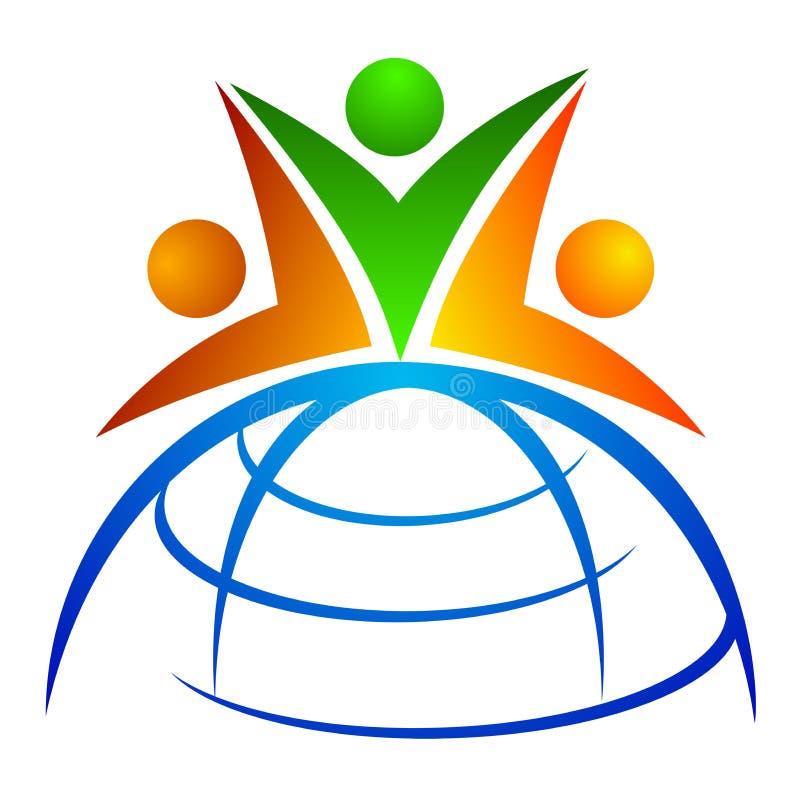 Global team. Illustration of global team design isolated on white background
