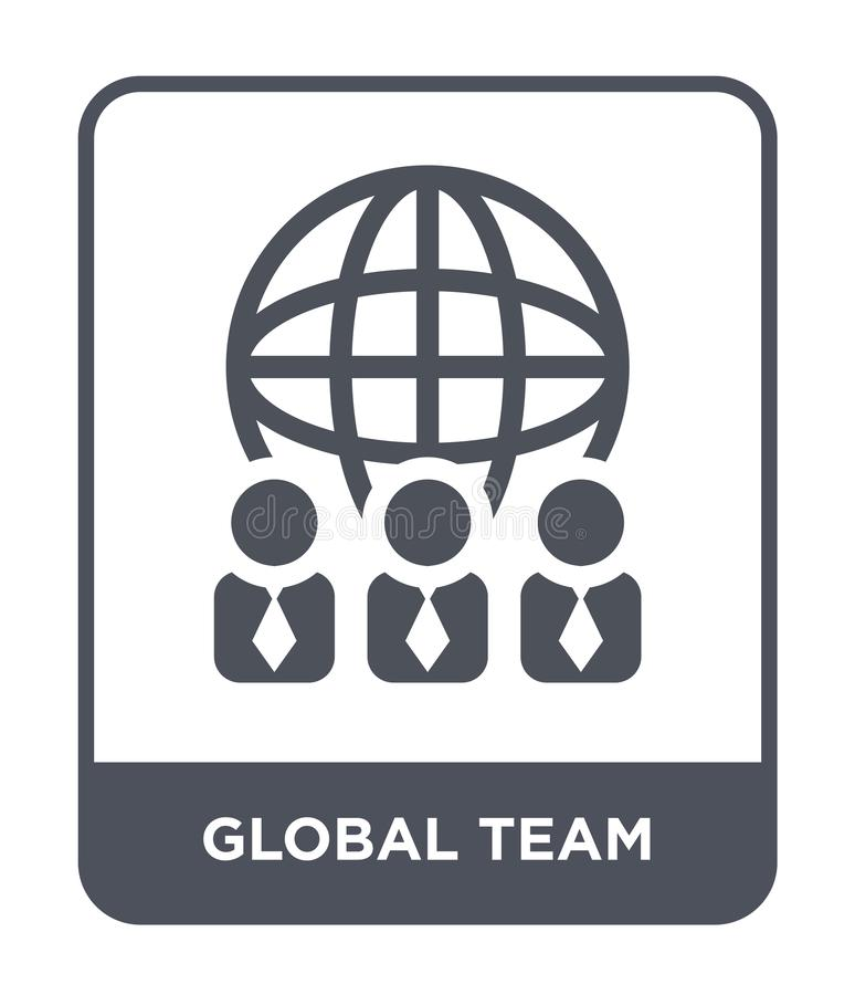 Global team icon in trendy design style. global team icon isolated on white background. global team vector icon simple and modern. Flat symbol for web site royalty free illustration