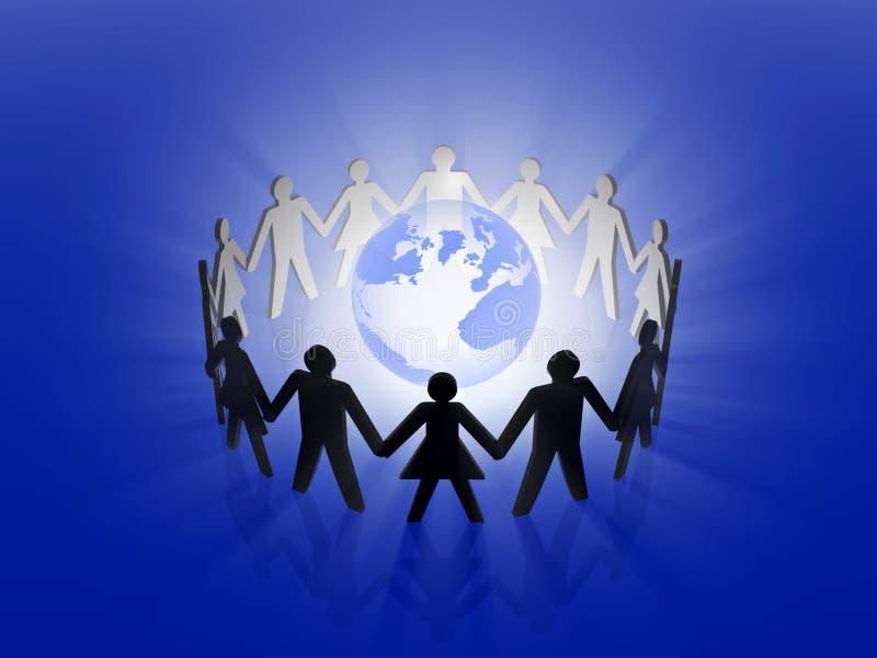 Global team work vector illustration