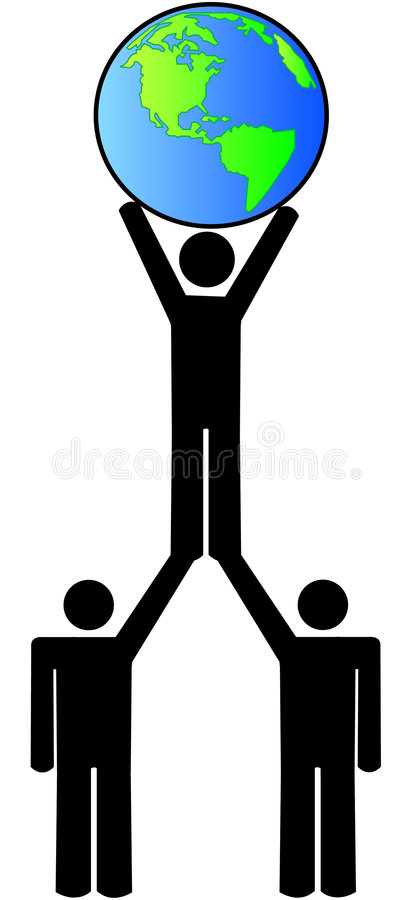 Download Global Team Working Together Stock Vector - Illustration of business, people: 5824449