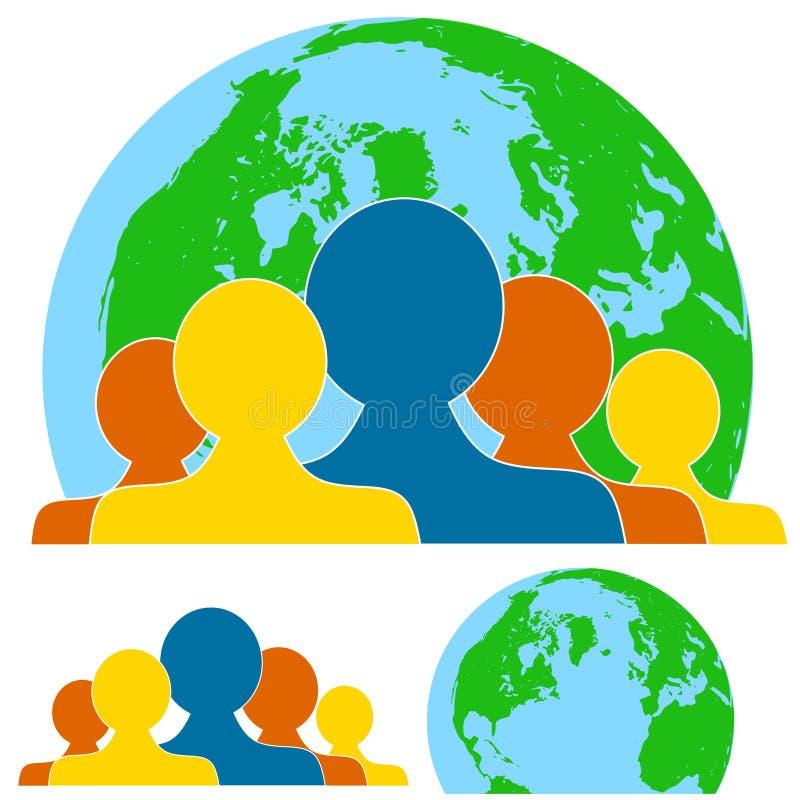 Global Teamwork People royalty free illustration