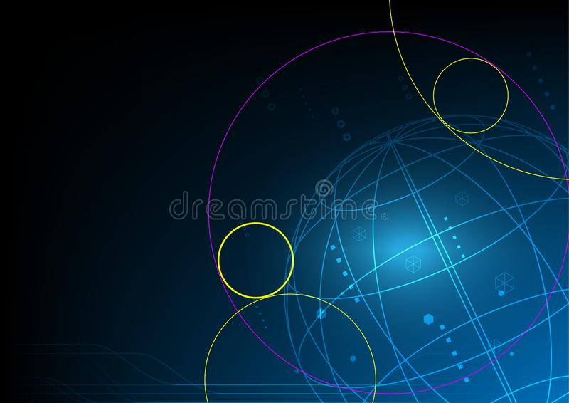 Global technology abstract background, signal internet network royalty free stock photos
