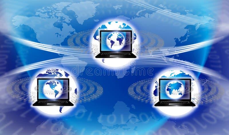global teknologivärld för utrustning stock illustrationer