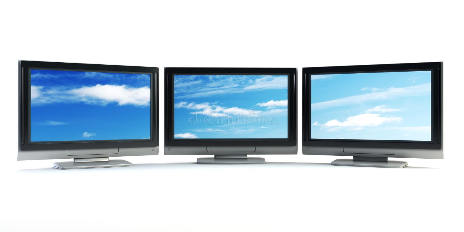 Global Television Concept Stock Image