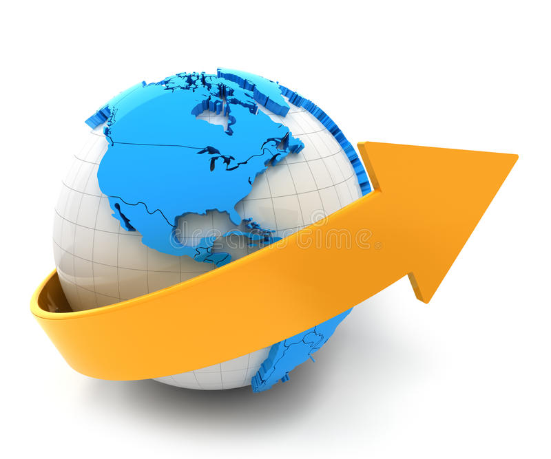 global tillväxt royaltyfri illustrationer