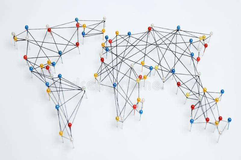 Global trading network, international business stock photography