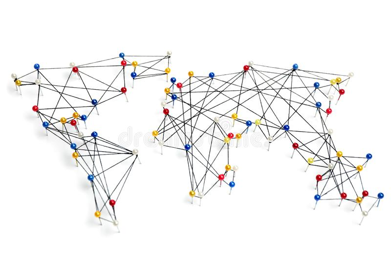 Global trading network, international business stock images