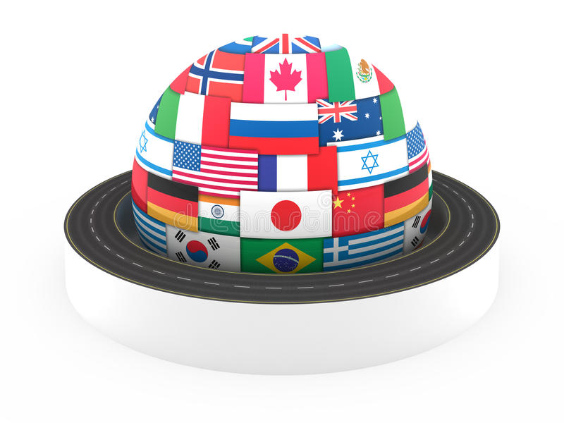 Global Transportation Concept Stock Images