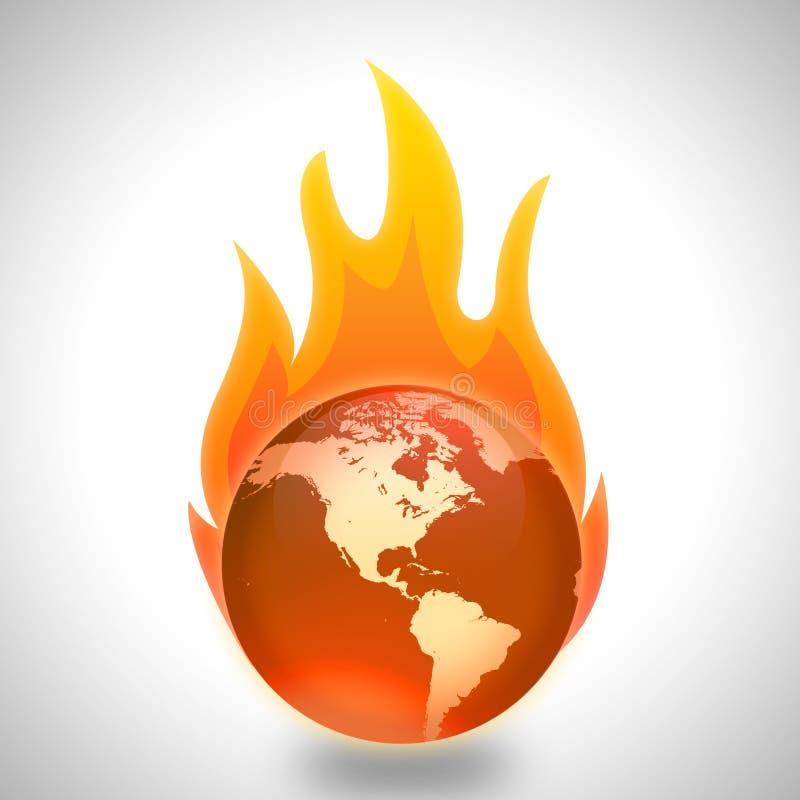 Global uppvärmning- och klimatförändringbegrepp arkivfoto