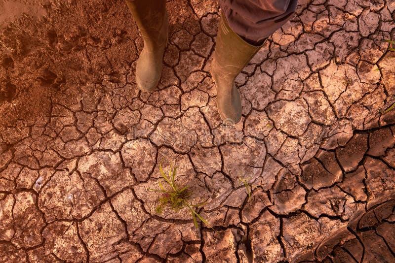 Global uppvärmning- och klimatförändringeffekthot till mänskligheten royaltyfri foto