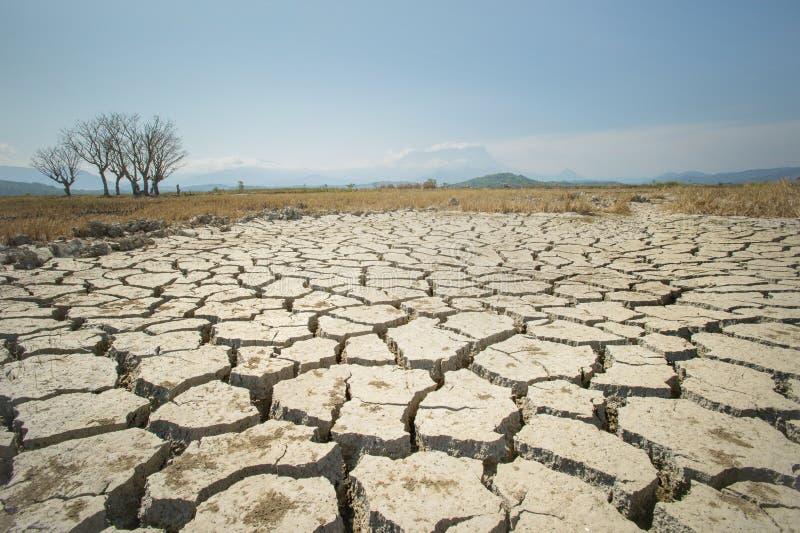 Global uppvärmningfrågan, jordningsland är torr, torkan betingar arkivfoton