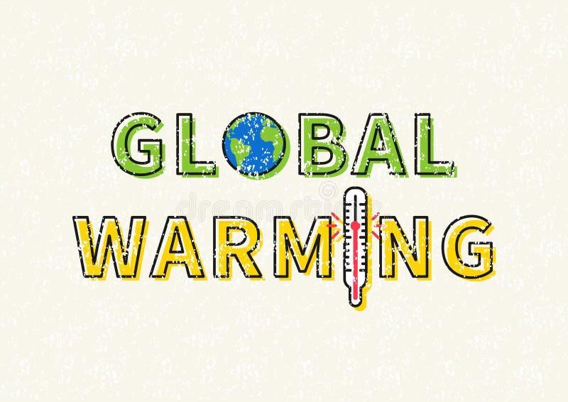 Global uppvärmningvektorillustration stock illustrationer