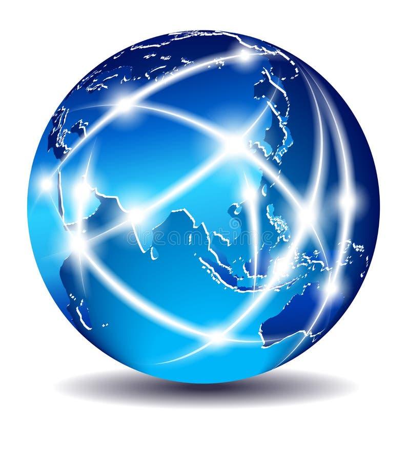 global värld för kommerskommunikation royaltyfri illustrationer