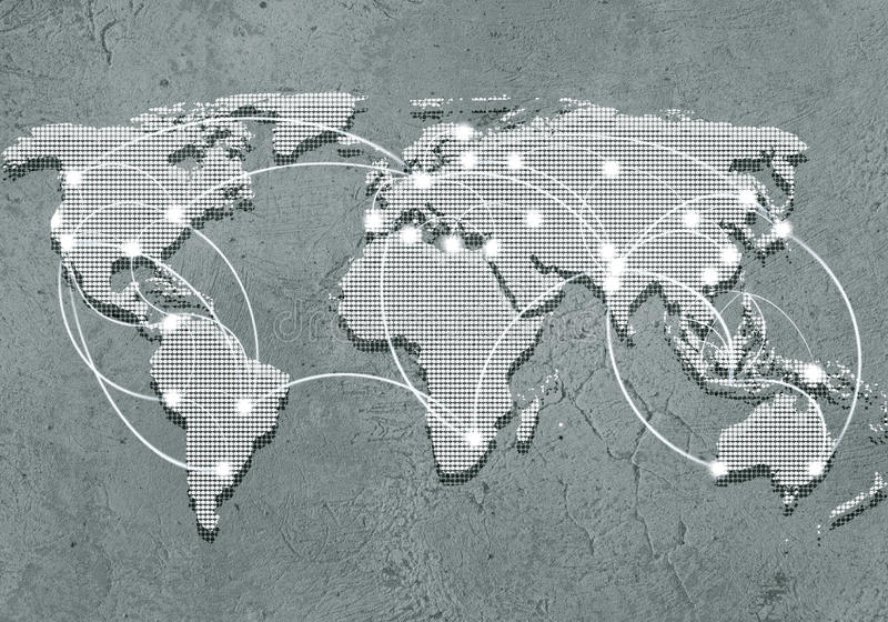 Global växelverkan arkivfoton