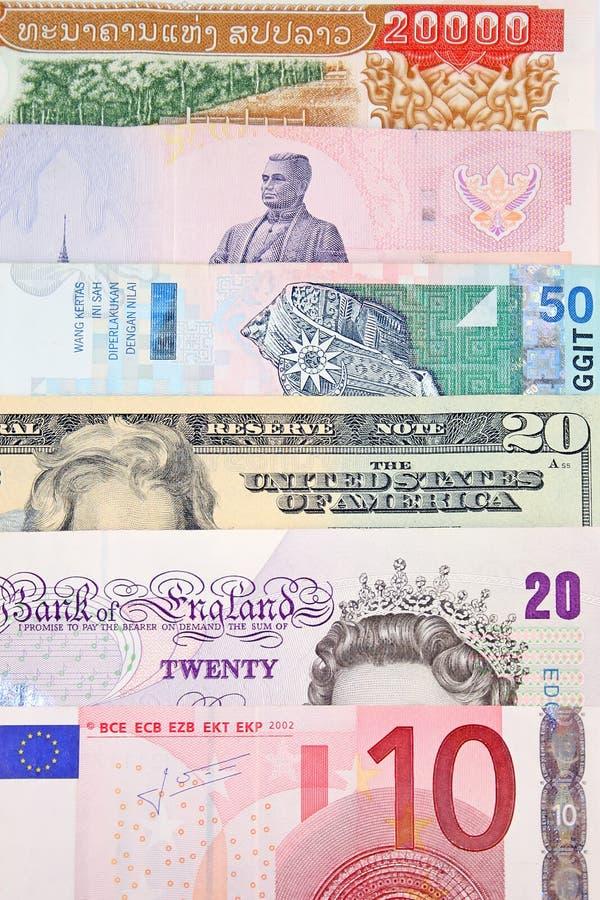 global valuta royaltyfria foton
