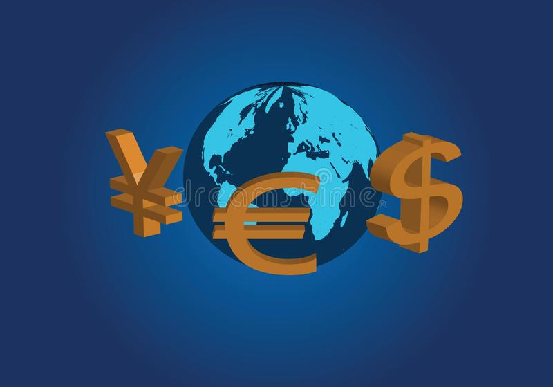 Global valutahandel stock illustrationer